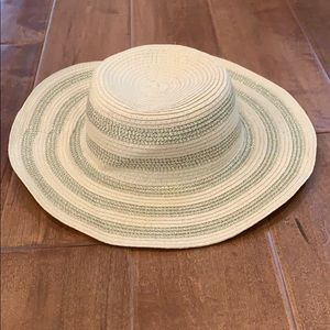 Straw Gold Lurex Mixed Hat